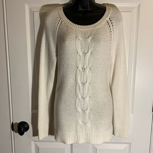 Thick, white like new APT 9 sweater size large